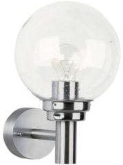 Albert Rvs wandlamp Globe Albert-Leuchten 690226