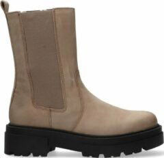 PS Poelman Dames Chelsea boots Lpcloki-15a - Taupe - Maat 36