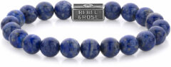 Rebel & Rose Rebel and Rose RR-8S002-S Rekarmband Beads Lapis Lazuli zilver 8 mm zilverkleurig-blauw S 16,5 cm