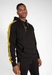 Gorilla Wear Banks Oversized Hoodie - Zwart/Geel - 2XL