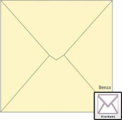 Benza Wenskaart Enveloppen - Vierkant 14 x 14 cm - Ivoor - Creme - 50 stuks