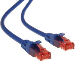 Blauwe Maclean energy UTP cat6 kabel patchsnoer kabel 0.5m MCTV-300 N PVC