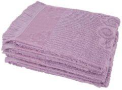 Handtuch flieder mit Fransen 4er-Set