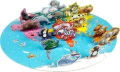 Grafix 3D Vloerpuzzel Werelddieren - puzzels voor kinderen - 38 puzzelstukjes - 50 X 40 CM