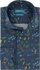 Blauwe District Indigo Overhemd Look Me Navy (7.02.025.003.310)