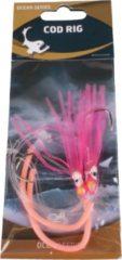 Eurocatch Fishing Raven Cod Rig Pink Luminous 2-Hooks | Maat 5/0