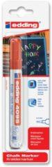 Edding - Krijtmarker e-4095 - Op blister - Rood - krijtmarkers - raamstift - raamstiften - chalkmarker – krijtstift – glasstift – schoolbordstift – krijtbordstift – stoepbordstift