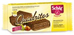 Schar Quadritos wafer al caco ricoperti di cioccolato fondente senza glutine 2x20g