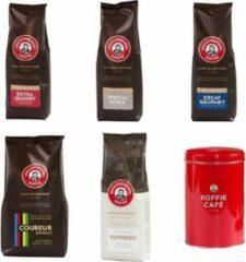 Grootmoeders Koffie - Proefpakket koffiebonen - 5 smaken + koffieblik