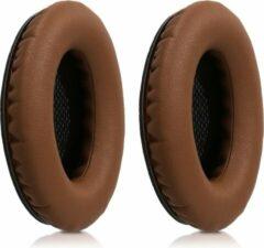 Kwmobile 2x oorkussens voor Bose Quietcomfort koptelefoons - imitatieleer - voor over-ear-koptelefoon - donkerbruin