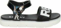 REPLAY Izumo sandalen met strass steentjes zwart/wit