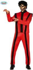 Rode Guirca Michael Jackson Kostuum | Thriller Zombie Michael Macabere Dans | Man | Maat 52-54 | Halloween | Verkleedkleding