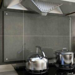VidaXL Spatscherm keuken 100x60 cm gehard glas transparant