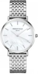Rosefield The Upper East Side Mother of Pearl Silver Horloge UEWS-U22