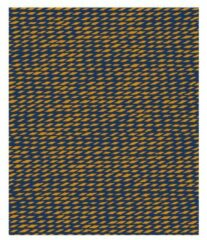 Present Time Deken Tuned Mesh 180 X 150 Cm Fleece Blauw/oranje