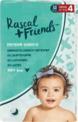 Rascal+Friends Baby Luiers maat 4, 10-15 kg (31 stuks)