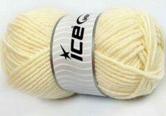 Creme witte Ice yarns Breiwol kopen creme kleur – merino wol 50% gemengd met 50% acryl garen – breigaren 100gram per bol breinaalden maat 7 mm – wol breien met plezier | DEWOLWINKEL.NL