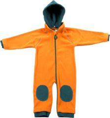 Groene Ducksday fleecesuit unisex - oranje/petrol - 104/110