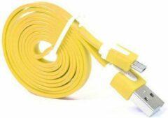 Qatrixx Micro USB Kabel Datacable 1 meter Universeel Yellow Geel