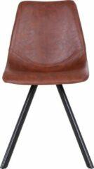 Grijze Rousseau Set van 2 stoelen Emmy - donkerbruin