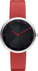 Zilveren Danish Design watches edelstalen dameshorloge Hazy Red IV24Q1264