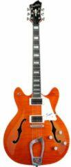 Hagstrom Super Viking Mandarin Flame semi-akoestische gitaar