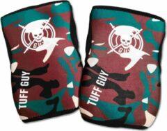 Groene Tuff Guy - Professionele Knee Sleeves-Camouflage- xLarge -5mm- Heavy Duty Support en Hulp bij Fitness, Bodybuilding, Powerlifting, Gewichtheffen en Crossfit