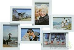 Fotolijst - Henzo - Holiday Gallery - Collagelijst voor 6 foto's - Fotomaat 10x15 cm - Wit
