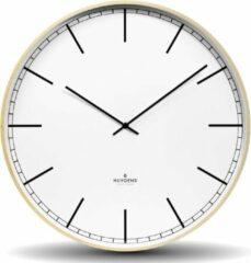 Beige Huygens - Wood 45 Index - Wit - Wandklok - Stil - Quartz uurwerk