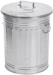 Zilveren Home Essentials Trash Can Retro Prullenbak 54 L
