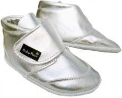 Zilveren Baby Paws babyslofjes Ray Zilver maat 0 = ( 9,5 cm)