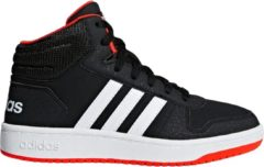 Rode Adidas Hoops Mid 2.0 K Kinderen Sneakers - Core Black/Ftwr White/Hi-Res Red S18 - Maat 29
