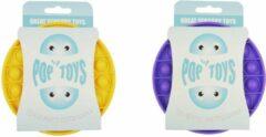 Merkloos / Sans marque Pop It Fidget Toy pakket Paars + Geel | Fidget Toy Pakket | Pop It | Popit | Combi deal | pop it fidget toy goedkoop | Trexo | fidget toys pakket onder de 20 euro | fidget toys pakket onder de 15 euro
