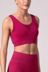 Roze REVIVE Sportswear REVIVE seamless Sport-bh - sporttop CASTELO, duurzaam - in EU gemaakt