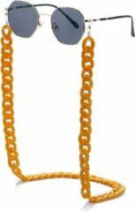 Fashion Favorite Zonnebril Ketting / Brillenkoord | Oker Geel | Acryl | 70 cm