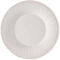 Clayre & Eef | Bord Ø 20*2 cm | Wit | Aardewerk | rond | ECDP