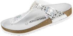 Grijze Birkenstock Gizeh Metallic Stones White Slippers Kids Size : 34