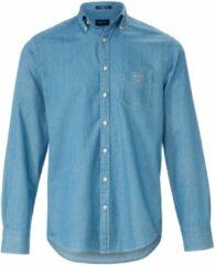 Blauwe Jeansoverhemd Regular Fit 100% katoen Van GANT denim