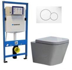 Douche Concurrent Geberit UP 320 Toiletset - Inbouw WC Hangtoilet Wandcloset - Alexandria Sigma-01 White