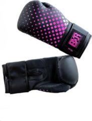 Hybride bokshandschoenen BXR | zwart-roze | 14 oz