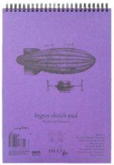 SMLT Blok Ingres wit natuur papier A4 met ringband