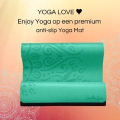 Sankalpa® Eco Yogamat Antislip - Yoga mat met tas - Hot yoga mat - Extra Breed – Superieure Grip - Premium Natuurrubber - Groen - 183 x 68 x 0.4 cm 4mm dik