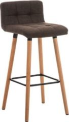 CLP Barhocker LINCOLN mit Stoffsitz und Holzgestell , Rückenlehne & Fußstütze für optimalen Komfort, FARBWAHL