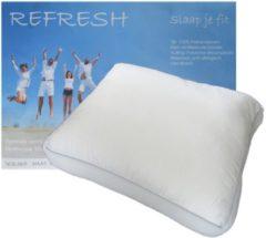 ISleep Refresh Hoofdkussen - Boxkussen met 3D Border - Dreampearls - 50x60x10 cm - Wit