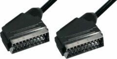 Electrovision 21-pins Scart kabel / zwart - 10 meter