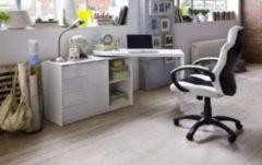 Baidani Designer Schreibtisch Dagna mit integrierter Kommode