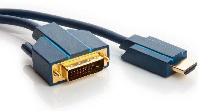 "Afbeelding van DVI / HDMI Aansluitkabel clicktronic HDMIâ""¢/DVI-Adapterkabel [1x DVI-stekker 24+1-polig - 1x HDMI-stekker] 3 m Blauw"