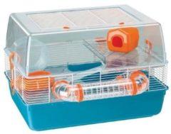 Ferplast Hamsterkooi Duna Fun - Dierenverblijf - 55x47x37.5 cm Blauw Oranje