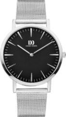 Zilveren Danish Design watches unisexhorloge London Black Silver Large Mesh IQ63Q1235
