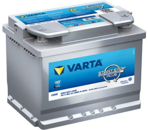 Afbeelding van Varta Start-Stop Silver Dynamic AGM 560 901 068 D52 12V 60 Ah 680A/EN Start Accu 4016987144497